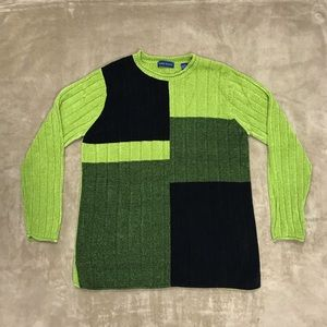 KAREN SCOTT Colorblocked Chenille Sweater